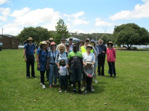 "Some of the 105 walkers who set out on the ""First in Fifty Years Walk"""